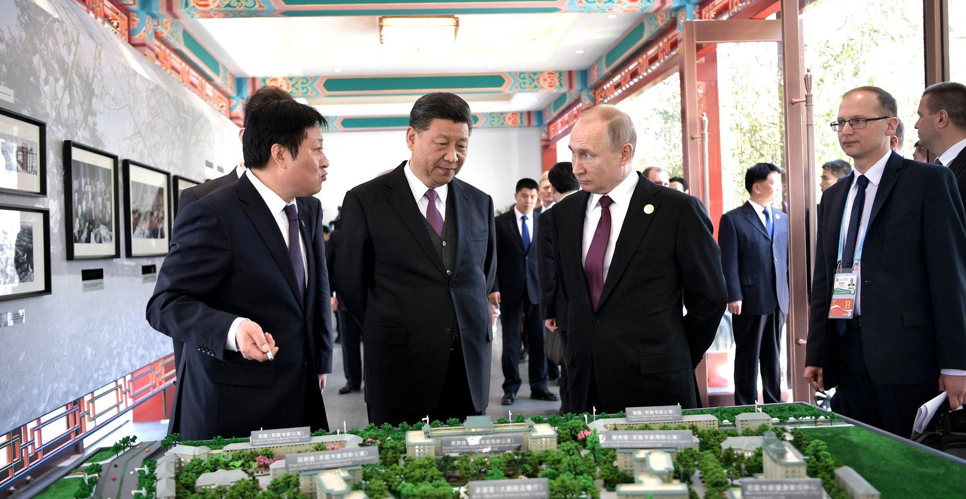 Xi Jinping meeting Vladimir Putin